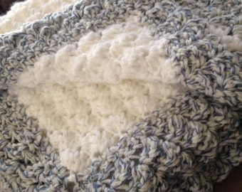 Crochet Stitch Rtrf : Baby Blanket or Throw Blanket. Croc heted with a Popcorn Stitch. ...