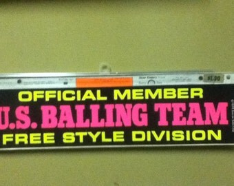 early 70's Bumper Sticker referencing ....sports?
