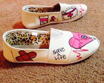 Womens Canvas Nursing/STNA/Physician Shoes