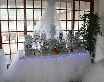 Tutu Table Skirt for Weddings, Baby Showers, Kids Birthday