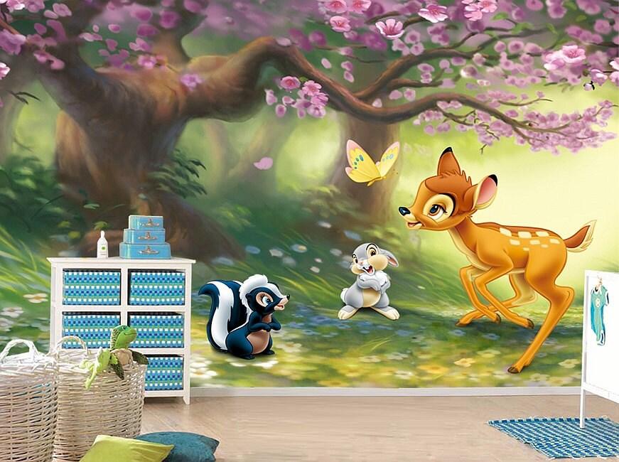 Bambi Wall Mural Wallpaper Wall Décor Wall Decal Nursery