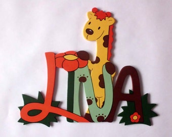 "Door sign, nameplate ""Giraffe"""