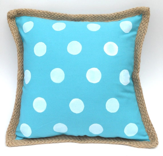 Easter Throw Pillow Covers : Easter Polka Dot Pillow Cover