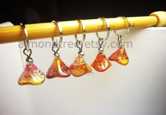 Knitting Supplies Singapore : Knitting accessories stitch markers fire flower id