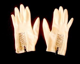 Dainty Vintage Beaded Ladies Gloves