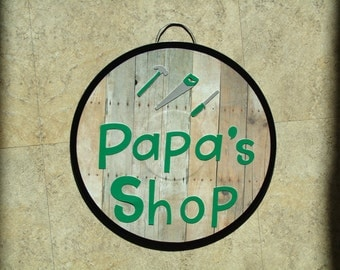 Papa's Shop wall decor sign