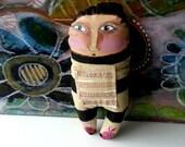 Art Doll, Doll, Soft Sculpture, Stuffie, Textile Art, Artstronaut Girl
