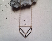 Pentahedron Extra Wide Necklace in Gold