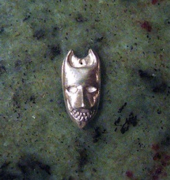 Devil mask pendant