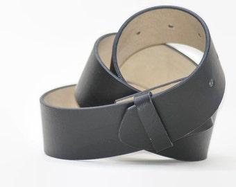 Faux LeatherVegan Snap on Belt Black Medium Weight