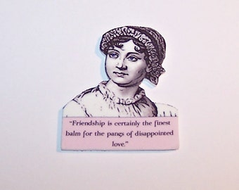 JANE AUSTEN Literary Quote Pins