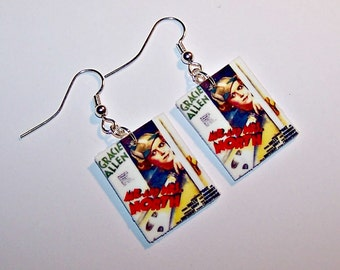 GRACIE ALLEN  Vintage Mystery Poster Earrings