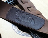 Firefly Class Ship Embossed Leather Guitar Strap