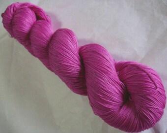 Silk lace yarn, hand painted silk yarn, ROSE, silk lace weight, knitting yarn, silk weaving yarn, 830yds
