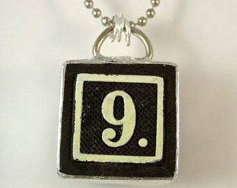 Number 9 Pendant Necklace