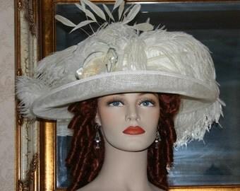 Downton Abbey Tea Hat Edwardian Hat Wedding Hat - Countess of Grantham