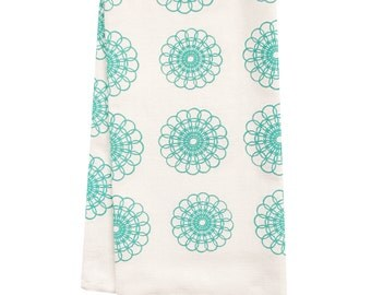 CLEARANCE Organic tea towel doily pattern