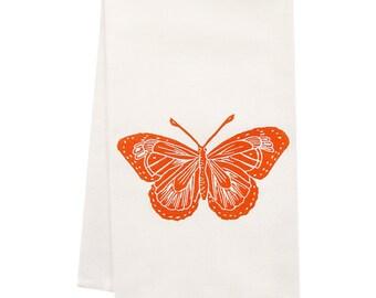 ORGANIC butterfly tea towel