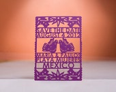 Papel Picado Save the Date, Laser Cut