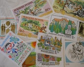 11 Vintage Postage Stamps, Hungary, 1970s -- Excellent Condition