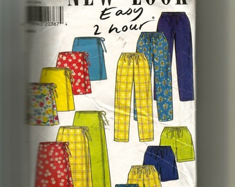 New Look Skirt, Pants, and Shorts Pattern 6637