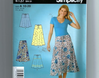 Simplicity Misses' Pull On Skirt in Two Lengths Pattern 4137