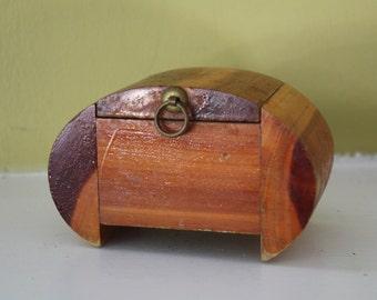 Tiny Inlaid Wood Box.