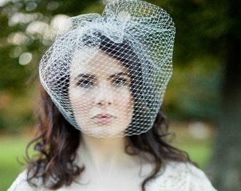 French Net Birdcage Wedding Veil, Amelie