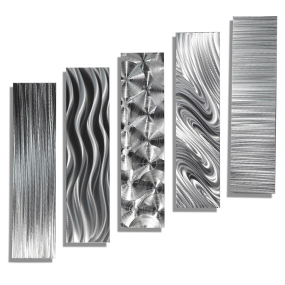Sale Large Silver Modern Metal Wall Art Contemporary Wall