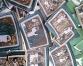 Mosaic Tiles Broken Plate Art supply Egyptian Egypt Cleopatra green White Mix
