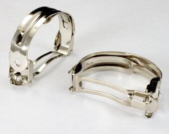 40mm Silver Ponytail Barrette (4 Pcs) #2481