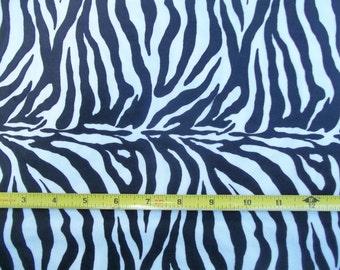 Suedecloth White Black Zebra Stripe Suede Cloth 60 inches Wide 1 yd. 4 inches