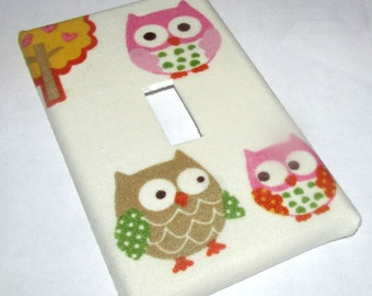 Switchplate Lightswitch Cover made w CIRCO Love N Nature Owl Woodland