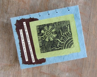 Travel Journal, Series 1 Book 3 Memento, unlined pages, Ready To Ship
