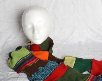 Upcycled sweater scarf, OOAK