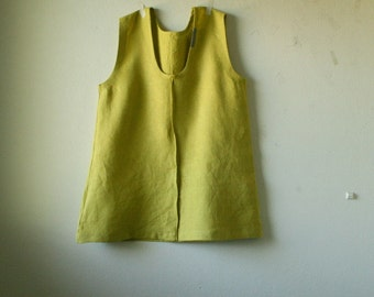 LINEN TANK TOP - scoop / linen tunic / womens linen clothing / linen shirt / eco / organic / vegan clothing / made in australia / pamelatang