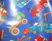 Construction Work Truck Vinyl Apron for Children