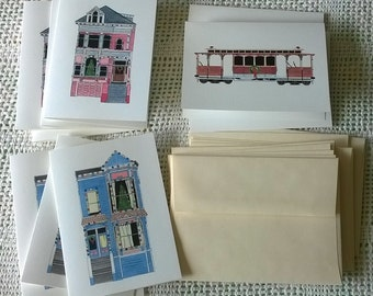 San Francisco Christmas - Pack Of 12 Holiday Cards