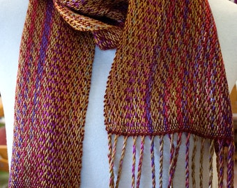 Handwoven Twill 100% Rayon Scarf