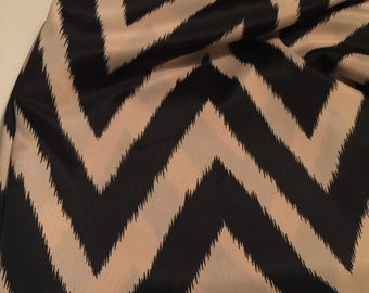 Poly Rayon  Print Fabric Chevron