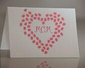 Letterpress Lovebug Mom Card