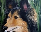 8 x 10 Life Like Detailed PET PORTRAIT Pet Painting from Your Photo Dog Cat Horse Art by Sharon Lamb