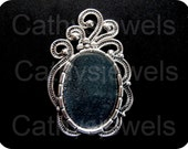 Deco Cameo Cab Setting With Bail 25x18 Set Of Six