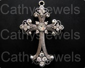 Antique Silver Renaissance Cross Two Pieces