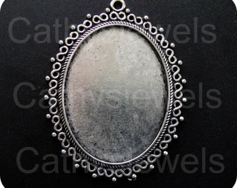 EnVogue Antique Silver Cameo Setting Set Of Three