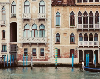 "Canal in Venice Italy, Venice Photography, Gothic Architecture, Windows, Large Wall Art, Italian Home Decor ""Time Travelling"""