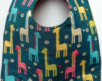 Giraffe Baby Bib Zoo Jungle Animal Baby Bib