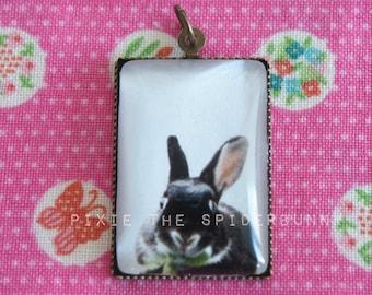 Pixie the Spiderbunny glass pendant