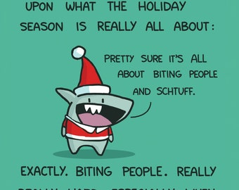 Mini-Shark Happy Holidays 10 Card Pack