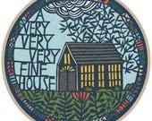 a very fine house print